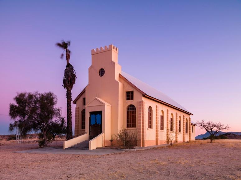 NG Kerk, Offer_Saal, Hoeksteen Gele Deur, Usakos, Namibia, Afric