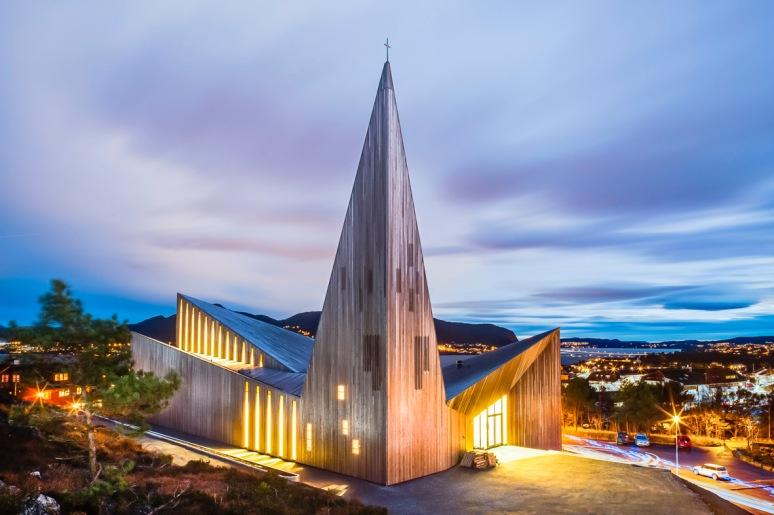 Knarvik Kirke during a stormy November evening!