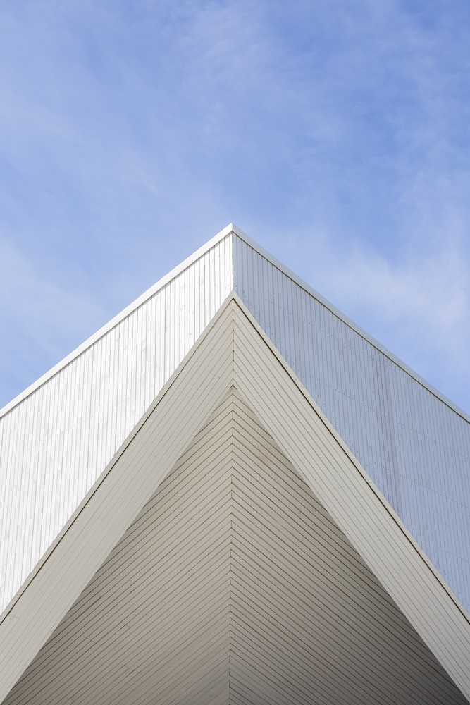 Roof detail on Aalgaard Church designed by Link Arkitektur, Stavanger, Norway.