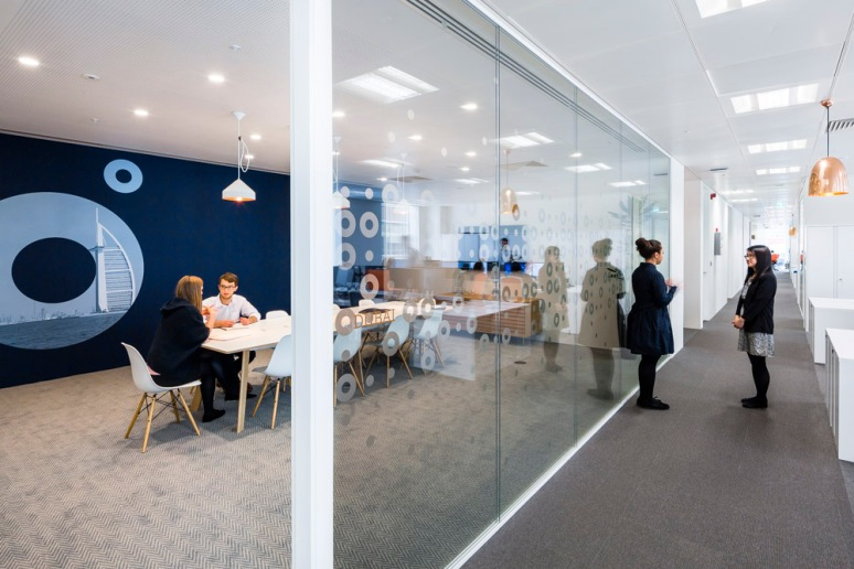 Meeting room at Informa office designed by Ben Adams Architects.