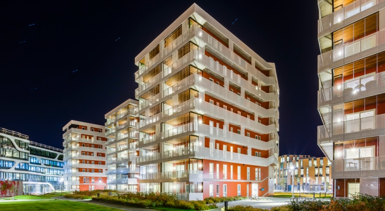 Rear view of Seaview designed by Link Arkitektur, photgraphed by Hundven-Clements Photography.