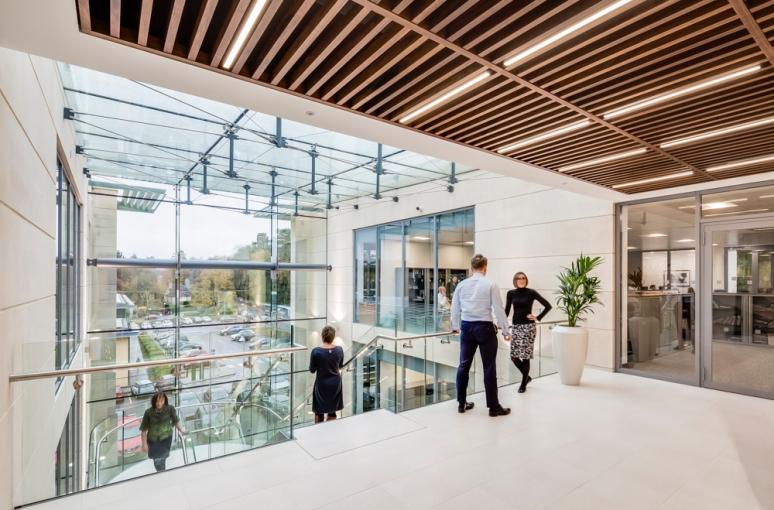 Second floor at St James Place designed by Scott Brownrigg, Cirencester, Gloucester, UK.